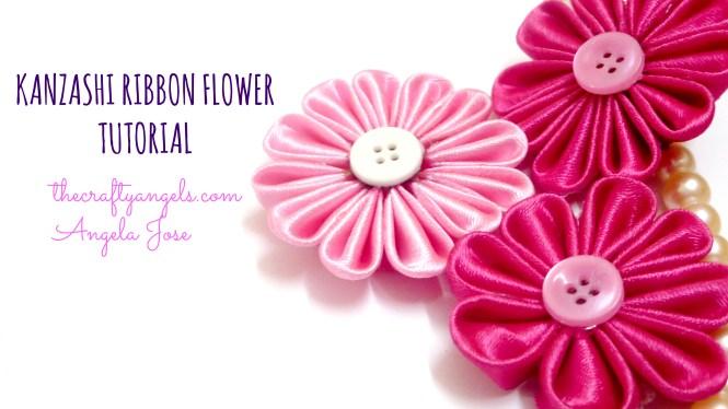 Kanzashi ribbon flower tutorial (5)