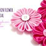 Kanzashi ribbon flower tutorial