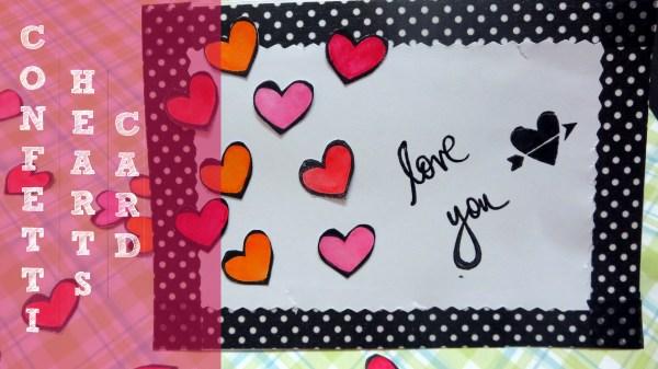 Confetti Hearts card tutorial  (7)