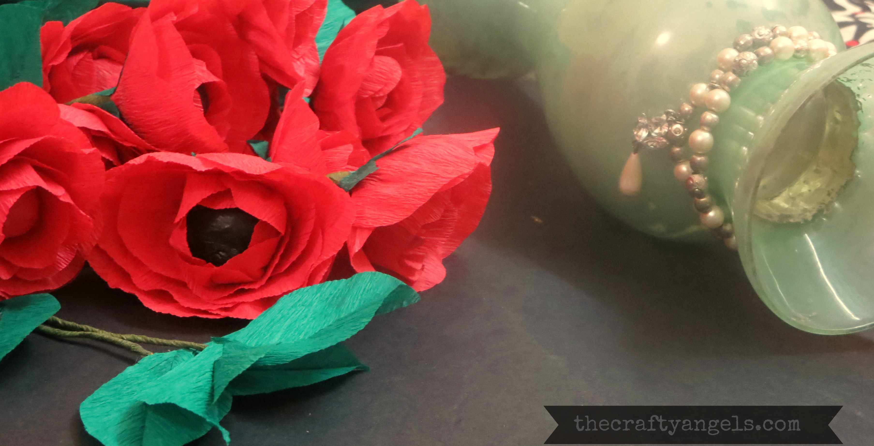 Easy Crepe Paper Flower Tutorial The Crafty Angels