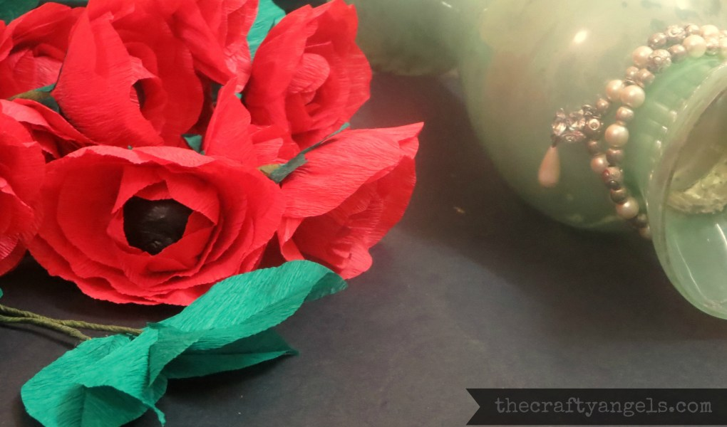 Crepe paper flower tutorial (1)