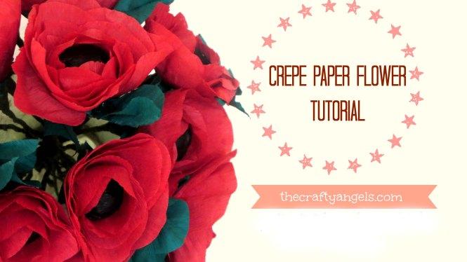Crepe paper flower tutorial (2)