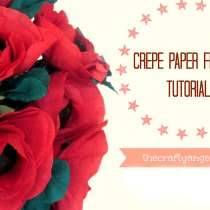 Crepe paper flower tutorial (2)