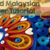 Quilling tutorial : Quilled Malaysian flowers