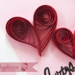 Cardmaking : Quilled Hearts Card Tutorial