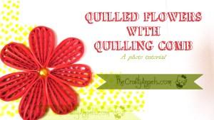 Quilling comb flower tutorial (20)