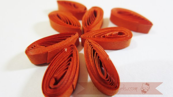 Tight quilled flower tutorial shaker card tutorial (1)