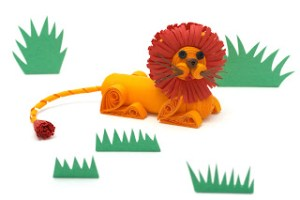 quilling tutorial quilled lion