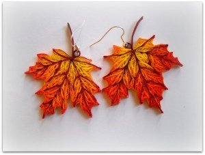 quilling tutorial quilled maple leaves earring