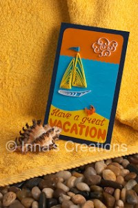 quilling tutorial quilled sailboat vacation card