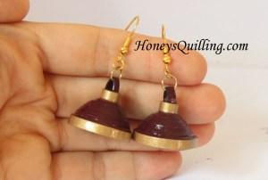quilling tutorials : simple jhumka earring tutorial