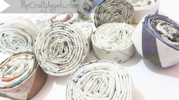 DIY Newspaper lampshade tutorial