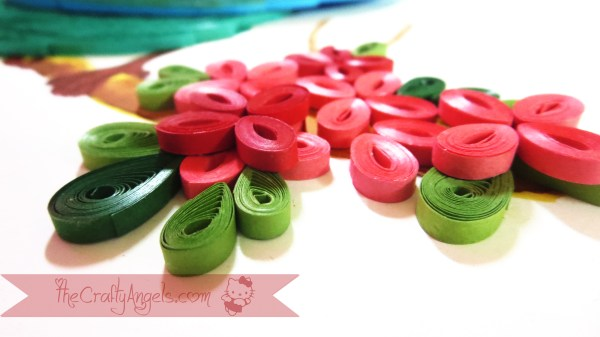 quilled bird quilling combing technique tutorial (21)