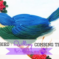 Quilling Combing technique : Quilled bird