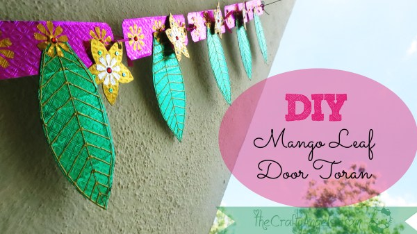 DIY Mango leaf door toran tutorial