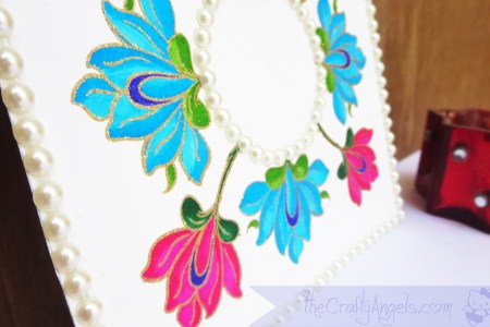 Handmade Diya Base Altenew persian motif