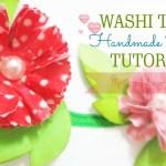 Washi Tape Handmade Flower Tutorial