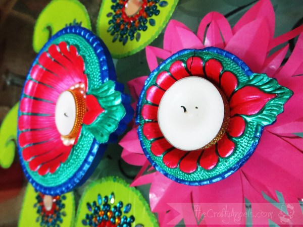 how to handpaint diyas