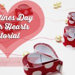 Valentines day Paper hearts tutorial