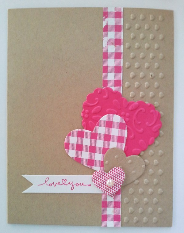 embossing folder card, embossed card, cardmaking india