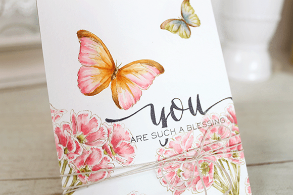 Watercolored card, handmade card, distress ink painted card, cardmaking india