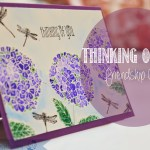 "Friendship Card with tagline : ""Thinking of you"""