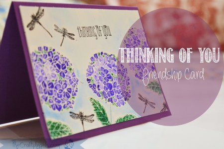 hydrangea flower, stamped card, handmade card, india cardmaking, pennyblack, thinking of you, friendship card, penny black stamp, penny black flower festival