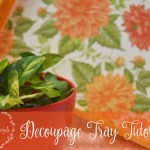 Decoupage Tray Tutorial