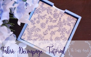 fabric decoupage coaster, indian blockprinted fabric design decoupage using mode podge