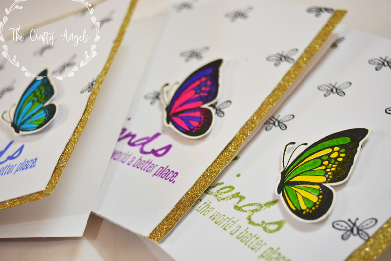 Friendship Cards Using Mudra Stamps The Crafty Angels