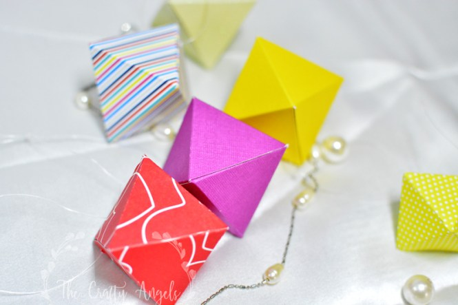 geometric paper ornament, geo ornament, box ornament, paper folded ornament, paper folded tree ornament, christmas tree ornament, christmas tree paper ornament, diy paper ornament, diy christmas tree decor, christmas tree decor ideas, christmas craft ideas, christmas activity