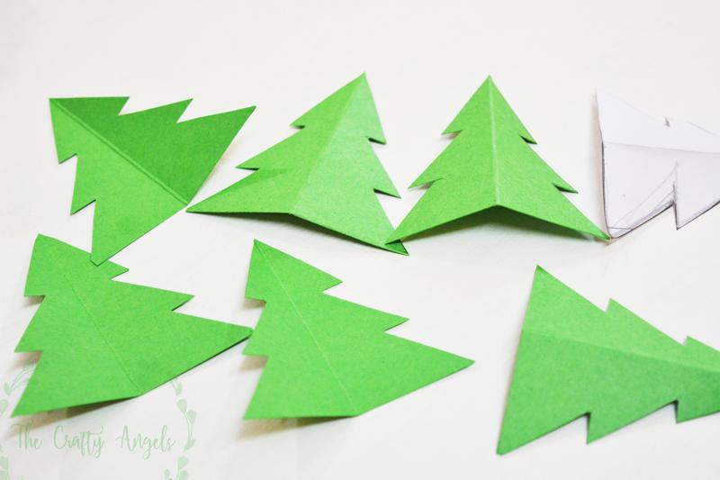 Diy Paper Christmas Tree Garland, Christmas Tree Decor, Christmas Tree  Ornament, Diy Tree
