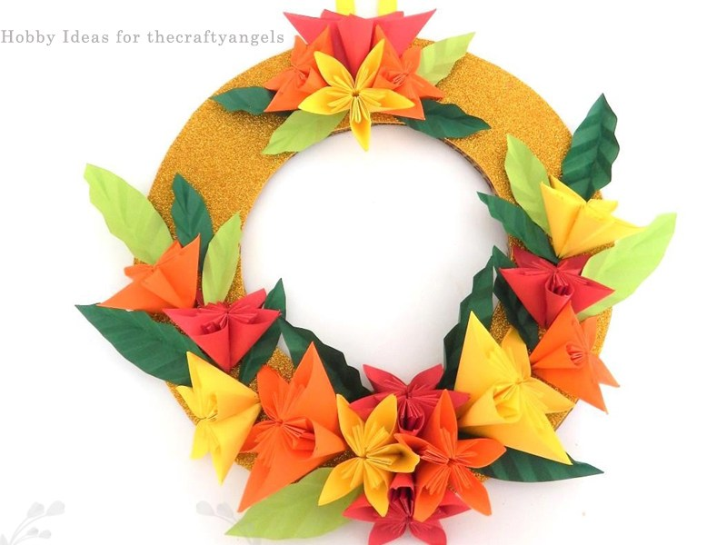 Kusudama Paper Flower Christmas Wreath Tutorial The Crafty Angels