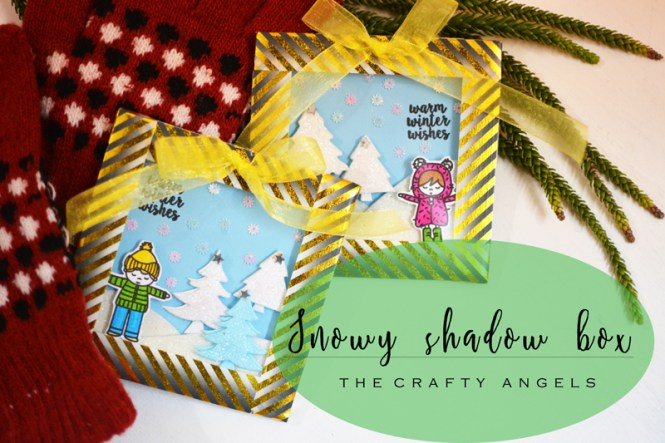 snowy shadow box, snow shadow box, snow themed christmas decor, christmas decor, christmas craft, christmas idea, christmas gift, christmas craft, christmas frame