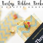 Making Burlap ribbon bookmark in ten minutes