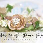 No Sew Burlap Rosette flower tutorial