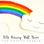 DIY Rainbow nursery wall decor with old cardboards