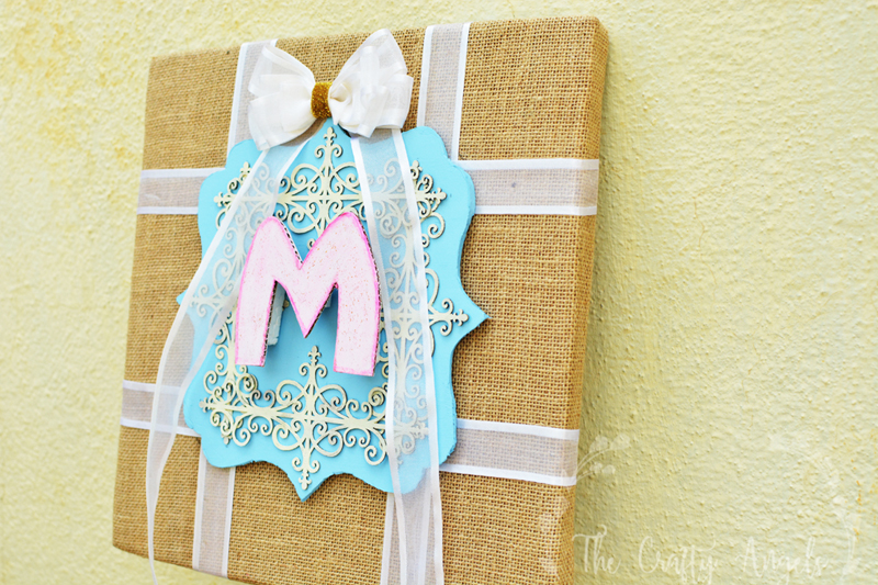 Making chic DIY Monogram wall art for Nursery Monogram, DIY wall art, DIY wall frame, monogram frame, monogram wall decor, monogram wall hanging, monogram wall art, wall art, diy burlap canvas, burlap decor, burlap wall frame, burlap wall art, burlap canvas art, nursery decor, nursery monogram