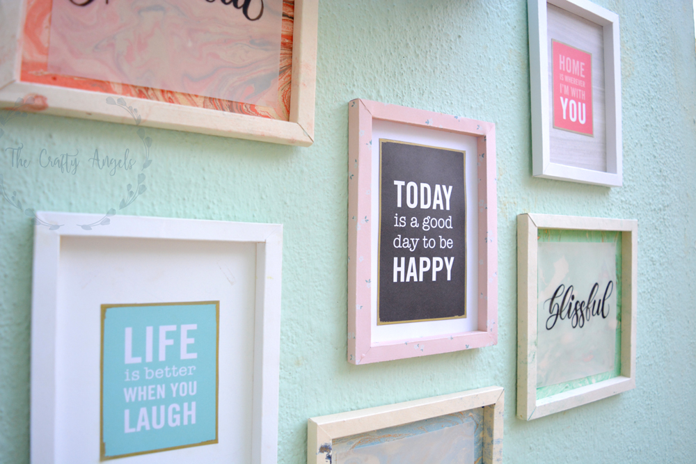 Creating A Diy Gallery Wall On Budget The Crafty Angels