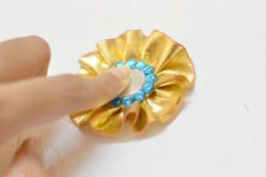 DIY Gota rakhi making - center piece