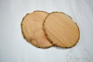 Wood slice DIY work