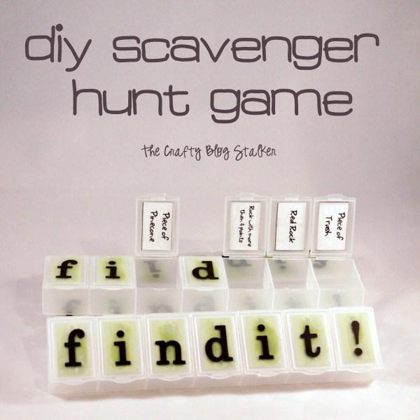 DIY Scavenger Hunt Find It Game - The Crafty Blog Stalker