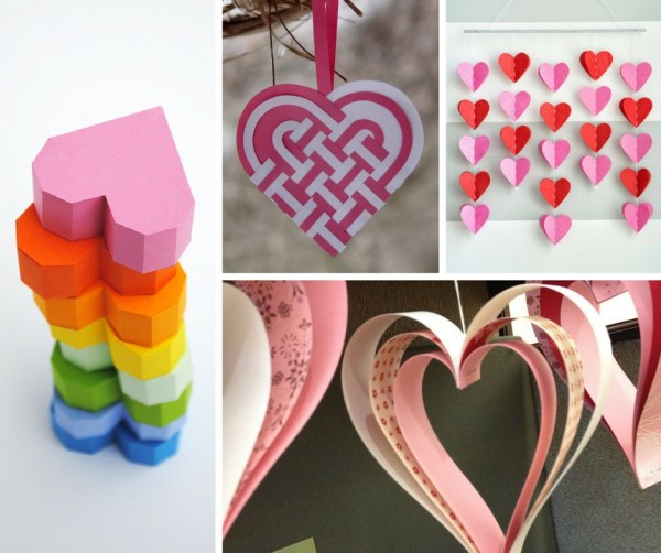 25 Easy Paper Heart Projects - The Crafty Blog Stalker