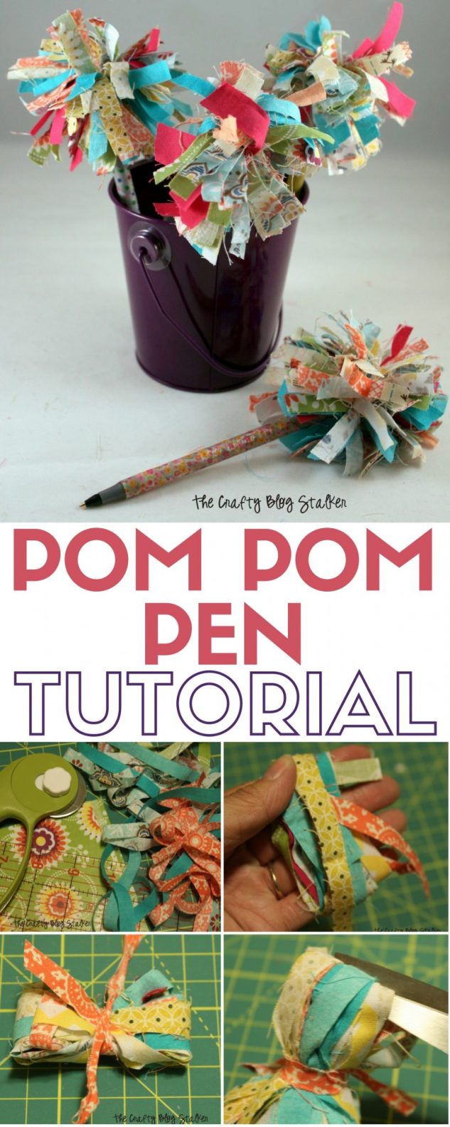 Learn how to make pom pom pens with this tutorial. Fun pens make great teacher gifts and are a fun kids craft. A simple DIY craft tutorial idea.