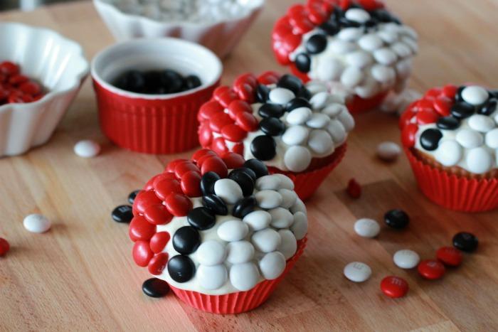 pokeball cupcakes sideview