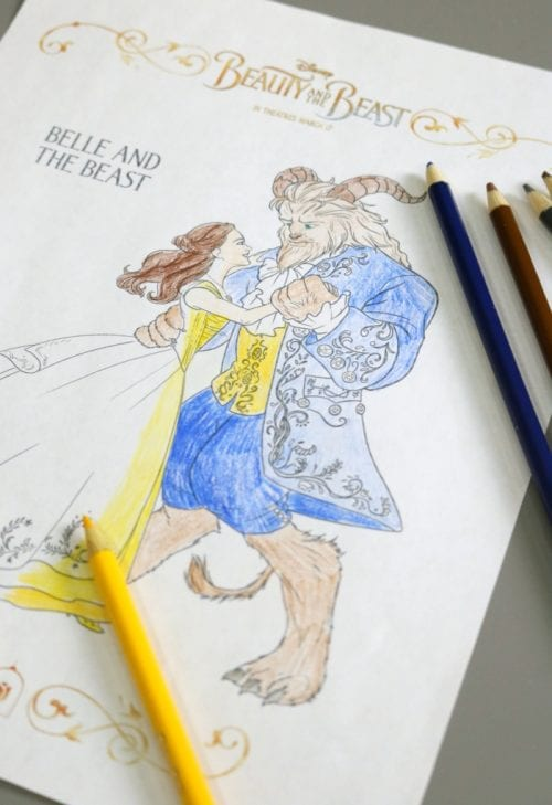 Beauty And The Beast Printable Coloring Sheets The Crafty Blog Stalker