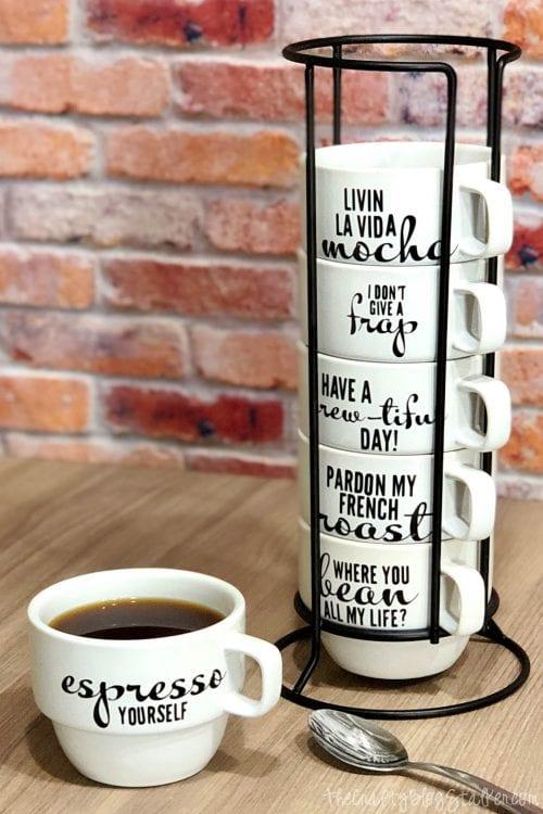 how to make cricut vinyl on mugs the