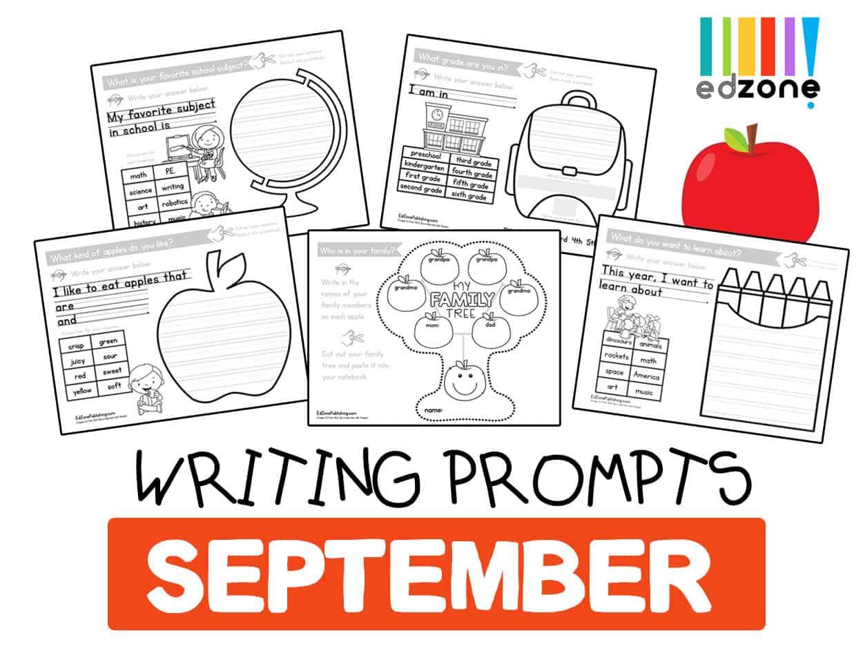 Septemberkindergartenwritingprompts