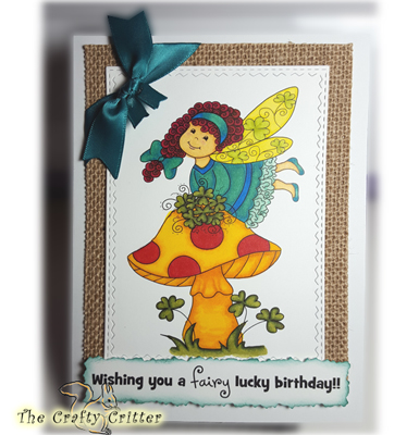 Handcrafted Birthday Card - Fairy