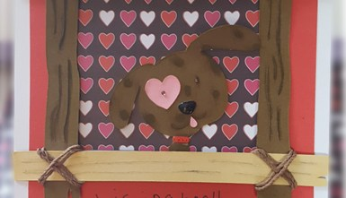 Handcrafted Valentine's Day Card - Kissing Booth